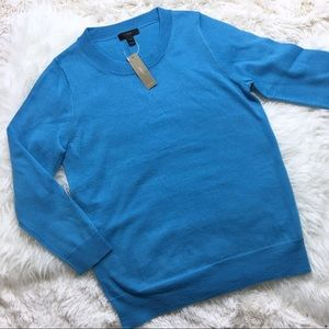 J. Crew Tippi Sweater Merino Wool Blue NWT Small